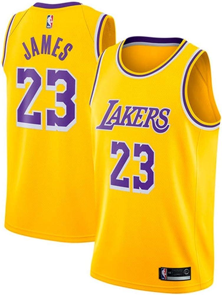 MTBD NBA Lebron James, NO.23 Lakers Retro, Camiseta de Jugador de Básquetbol, Bordado Transpirable y Resistente al Desgaste Camiseta de Fan de Hombres: Amazon.es: Ropa y accesorios