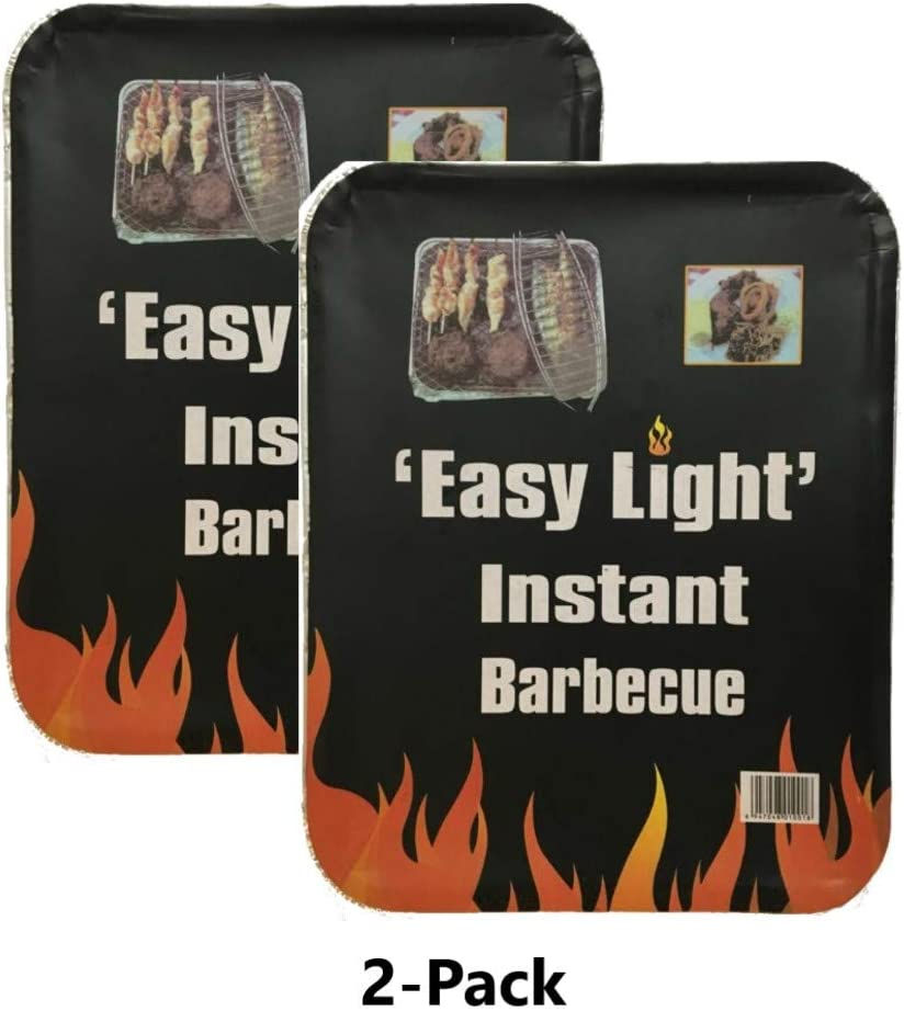 Tiger Specials Disposable Charcoal Grill On The Go Ready to Use Easy to Light 2 Pack