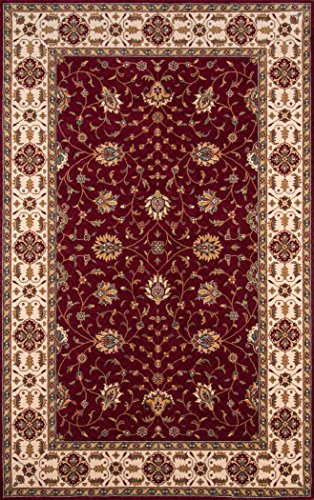 Momeni Rugs PERGAPG-08BUR80A0 Persian Garden Collection, 100% New Zealand Wool Traditional Area Rug, 8' x 10', -