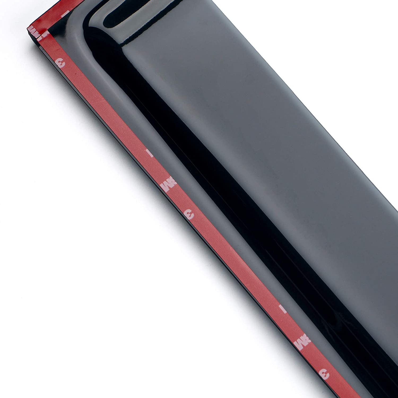 Spurtar Window Visor Original Wind Deflectors Out-Channel 4-Door 4pcs Dark Tint Tap-on Ventvisor Sun Shade Wind /& Rain Guard fits Jeep Wrangler JK 2007-2017