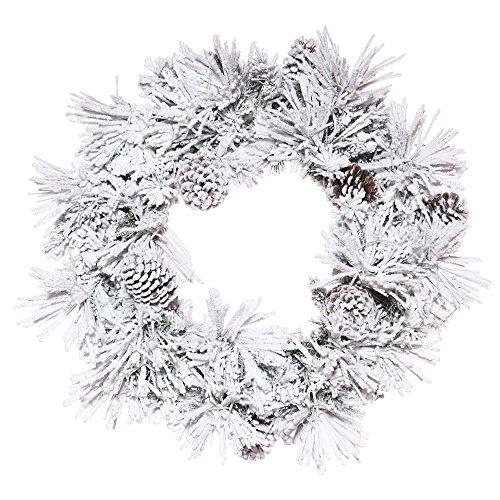 - Vickerman Flocked Atka Pine Wreath