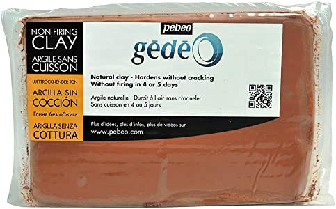 Pebeo Gedeo AIR DRYING CLAY RED 1.5KG