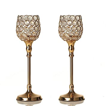 Vincigant Gold Kristall Kerzenstander Fur Hochzeit Geschenk Haus