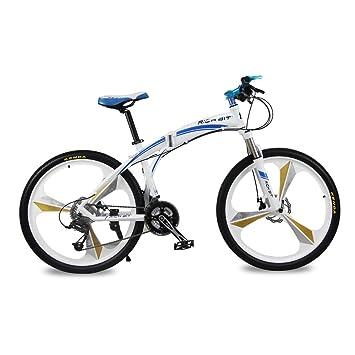 Bicicletas de montaña Marco Plegable de Allumium Hombre Bicicletas 26 pulgadas Shimano 27 velocidad 3 Radios