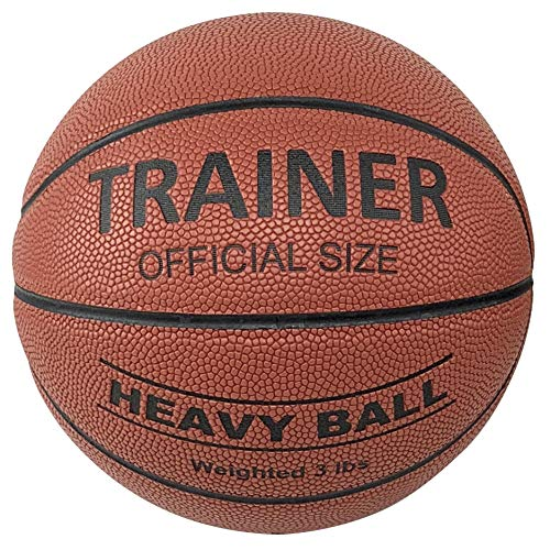 Trainer Heavy Weighted Indoor Basketball - Sports Training Aid Moisture Absorbing PU Leather Ball Official Size 29.5 inches - 3lbs