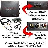 HDMI to 3RCA Composite AV Converter for Roku [Roku 2, Roku 3, Roku 4 and Roku Streaming Stick (all models)]
