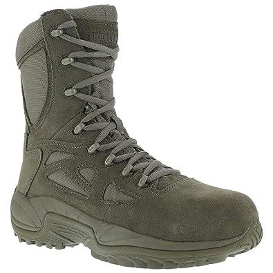 Reebok Men s 8 quot  Rapid Response RB Composite Toe Combat Boot Sage Green  5.5 M 83934865c
