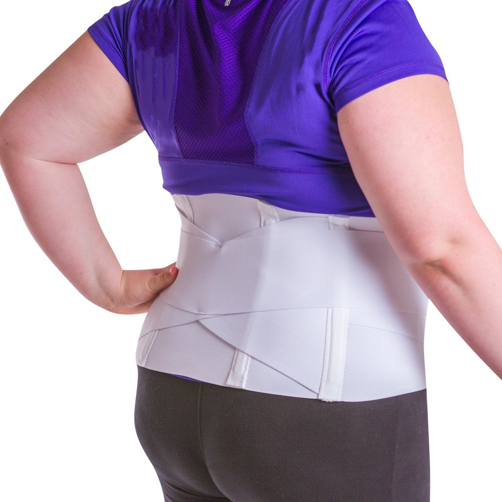 BraceAbility Women's 4XL Plus Size Back Brace for Females with Lower Back Pain & Bigger Hips up to 69''