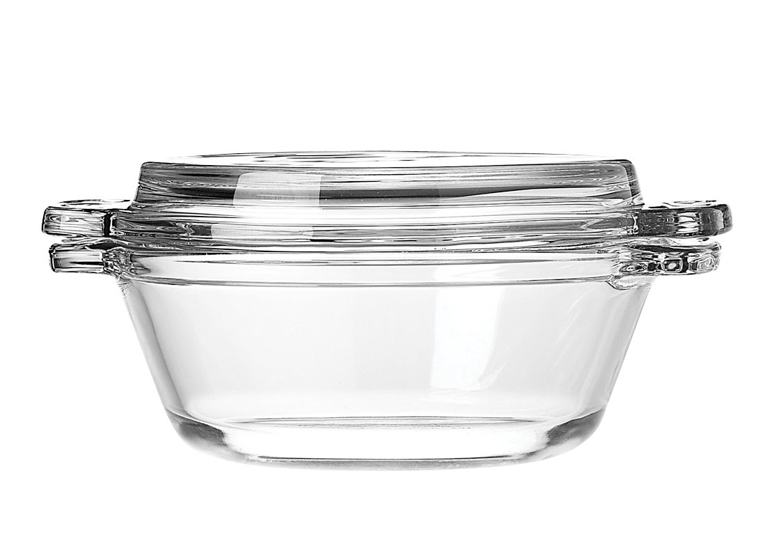 Anchor Hocking 77889 Fire-King Casserole Baking Dish with Lid, Glass, 20-Ounce by Anchor Hocking