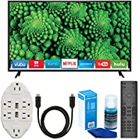 Vizio D55f-E2 D-Series 55 Full Array LED Smart TV + Transformer Tap USB with 6-Outlet Wall Adapter + 6ft. High-Speed HDMI Cable + Universal Screen Cleaner Bundle