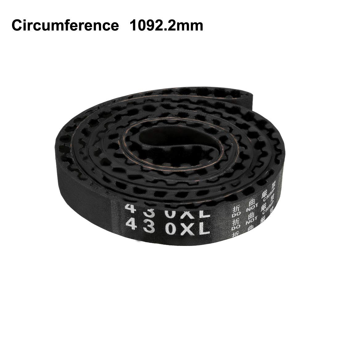 uxcell 430XL Rubber Timing Belt Synchronous Closed Loop Timing Belt Pulleys 10mm Width a17041800ux2158