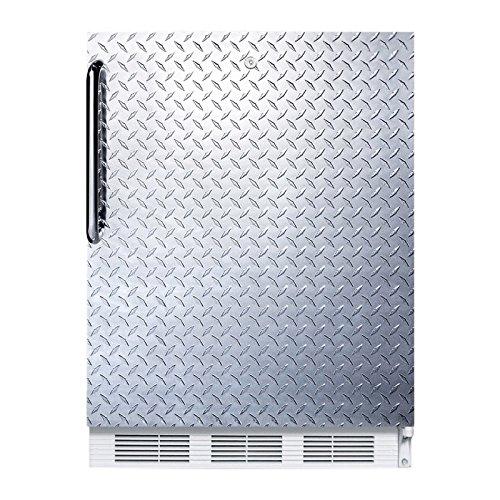- Summit FF7LDPLADA Refrigerator, Silver With Diamond Plate
