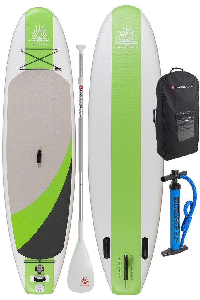 Cruiser SUP Crossover Air SL 10'8'' Inflatable Stand Up Paddle Board | All Around Performance | Supports up to 230 Pounds | Includes Dual Action Pump, Carry Bag, Fins, and Travel Paddle