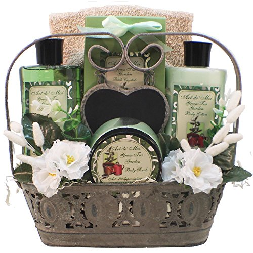 Green Tea Spa Gift (Spa Treasures Green Tea Bath and Body Gift Basket Set)