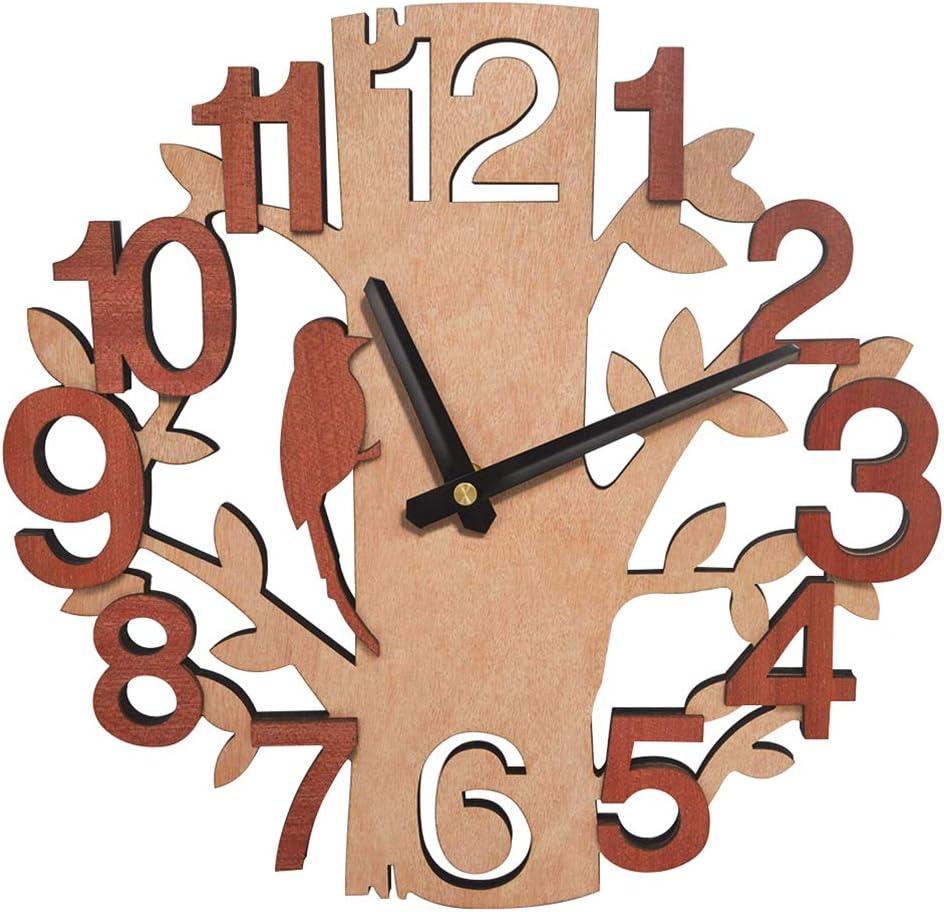 UMI. Essentials Reloj de Pared Silencioso en Forma de árbol