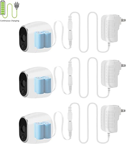 New Power Adapter for NETGEAR Arlo Security Camera US Plug Batteries Replacement