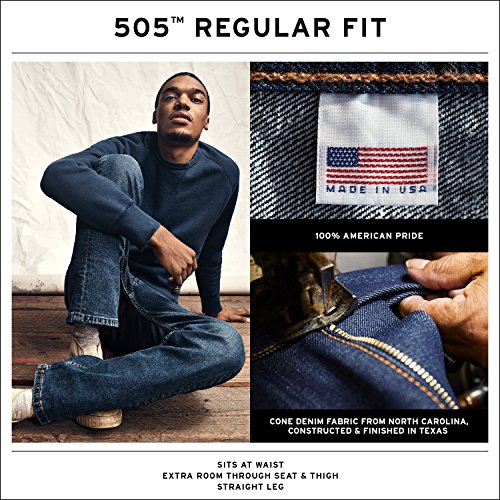 Large Product Image of Levi's Men's Made in The USA 505 Regular Fit Jean,