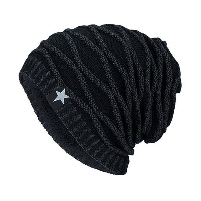 8aff5cf87 Kinlene Hats, Unisex Knit Cap Hedging Head Hat Beanie Cap Warm Outdoor  Fashion Hat Black: Amazon.co.uk: Clothing