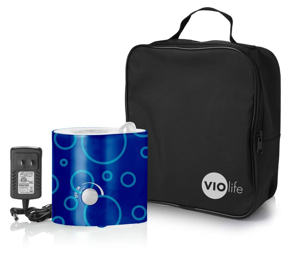 Violife VMH204C Personal Humidifier with travel case - Blue on Navy Bubbles