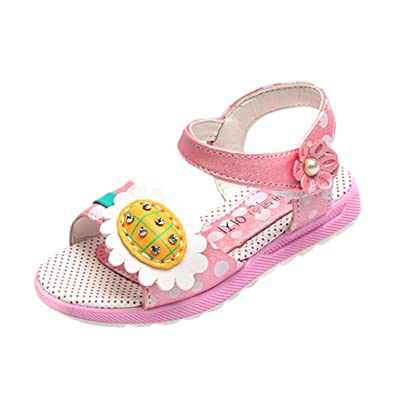 b59a600d50f HUHU833 Toddler Baby Girls Sun Flower Dot Sandals Casual Shoes - For 1-6  Years