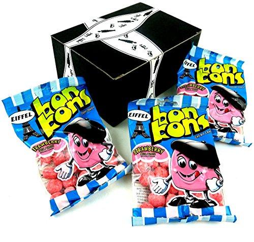 Eiffel Strawberry Bon Bons, 4 oz Bags in a Gift Box (Pack of 3) - Bon Bons Apple