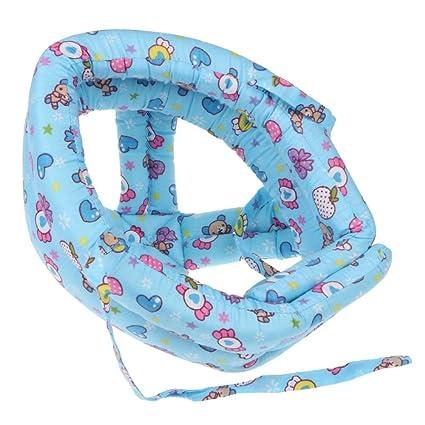 VANKER Bebé suave Casco de seguridad parachoques del cojín de cabeza Casco de sombrero de protección
