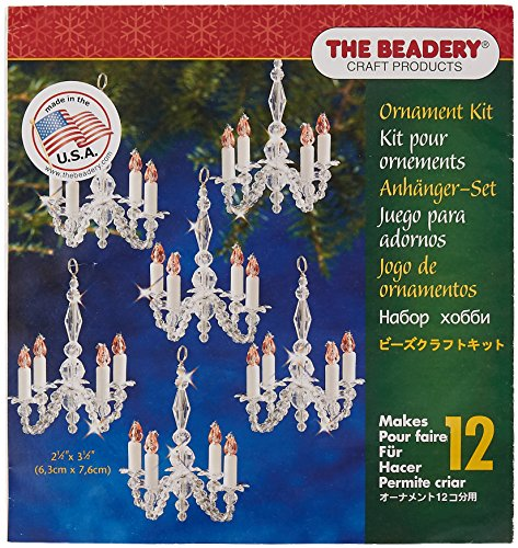 Beadery BOK-5932 Holiday Beaded Ornament Kit, Christmas Chandeliers