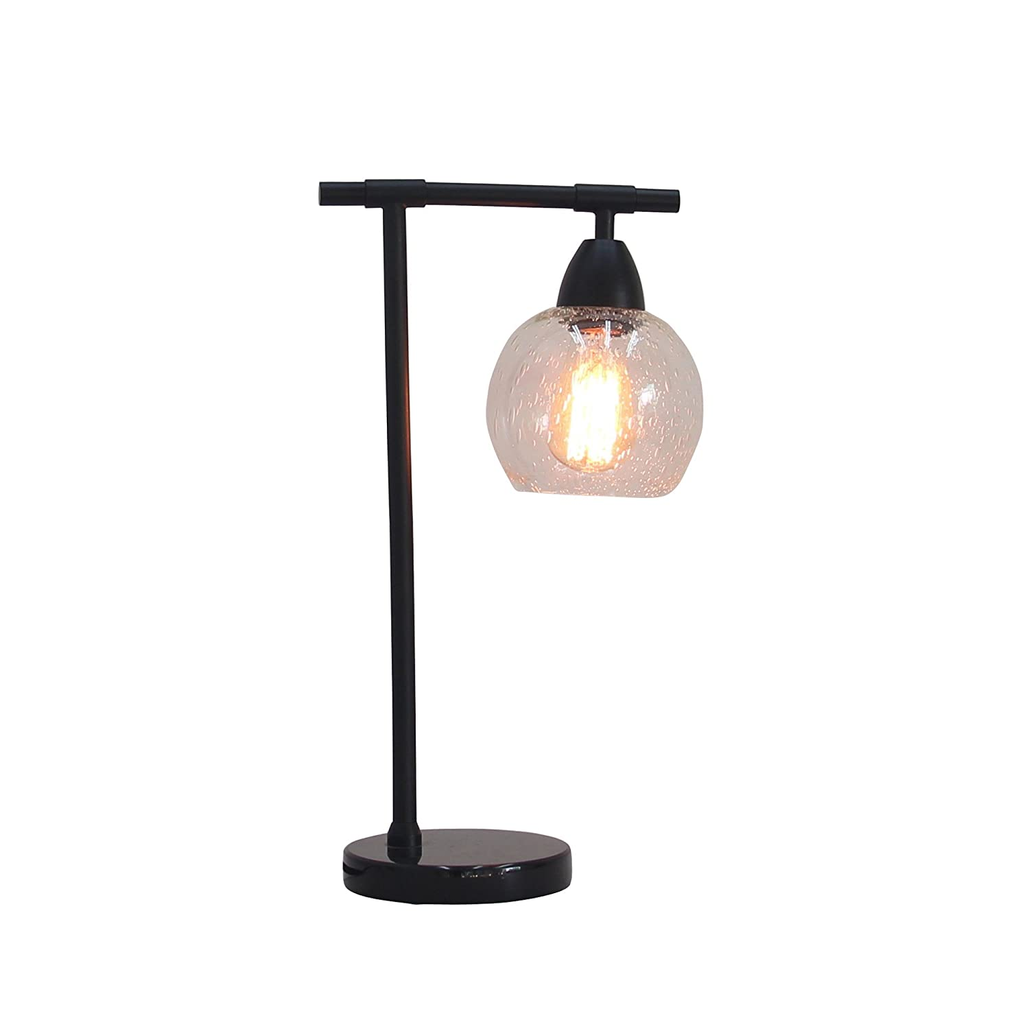 /& Clear Glass Marble Cory Martin W-1560BLK Table Lamp 18 Metal//Black