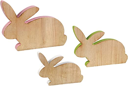 The Lakeside Collection Easter Bunny Shelf Sitters Boy Bunny