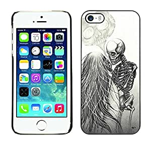 Slim Design Hard PC/Aluminum Shell Case Cover for Apple Iphone 5 / 5S Love Couple Heart Funny Skeleton / JUSTGO PHONE PROTECTOR