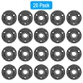 "20 Pack Floor Flange, GOOVI 1/2"" Malleable Cast Iron Pipe Flange, Industrial Pipe Flanges For Threaded Black Pipes and Fittings, Build Vintage DIY Shelving Steampunk Furniture"