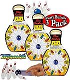 Toysmith Mini Bowling (10 Pins & 1 Bowling Ball) Gift Set Party Bundle - 3 Pack