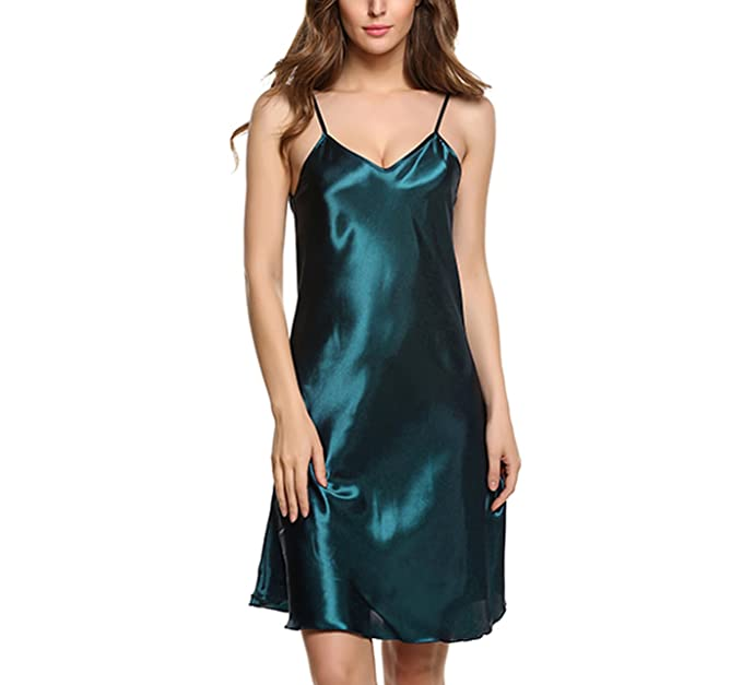 f3fe6fab8cdc Image Unavailable. Image not available for. Color  Women Silk Sleepwear  Sexy Night Dress ...