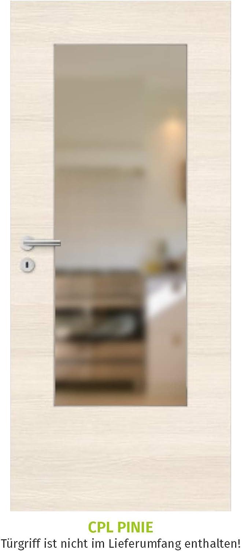HORI/® Zimmert/ür I Innent/üre passend f/ür alle Standard-Zargen mit DIN Gr/ö/ße I 1985 x 985 mm I DIN Links