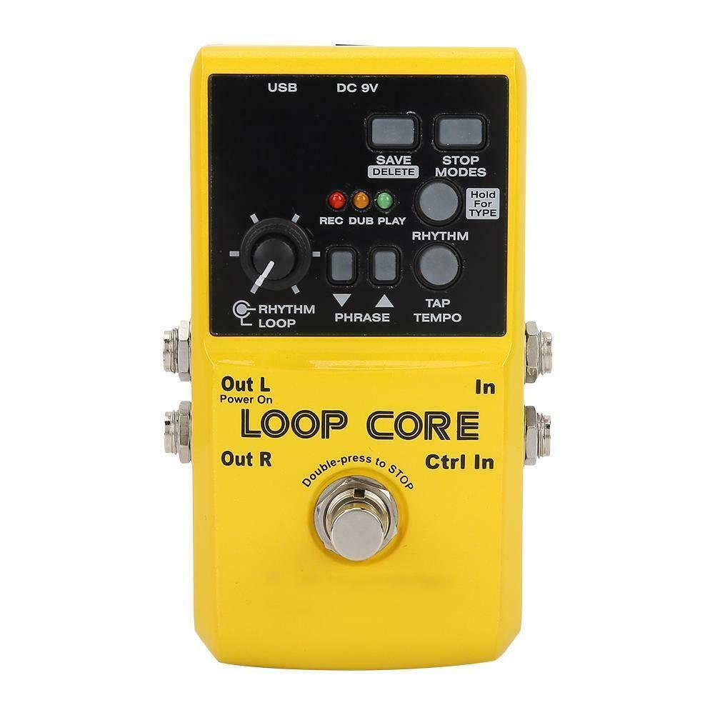 LTGWLKJ NUX Loop Core Guitar Effect Pedal Looper 99 User Memories Drum Patterns with TAP Tempo by LTGWLKJ