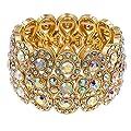 """Lavencious Infinity Shape Rhinestone Stretch Bracelet Evening Party Jewelry 7"""""""