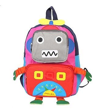 Huateng Mochila pequeña para niños pequeños, Bolso de Escuela Lindo para bebés Robot Mochilas Escolares Oxford para niños de Entre 1 y 3 años: Amazon.es: ...