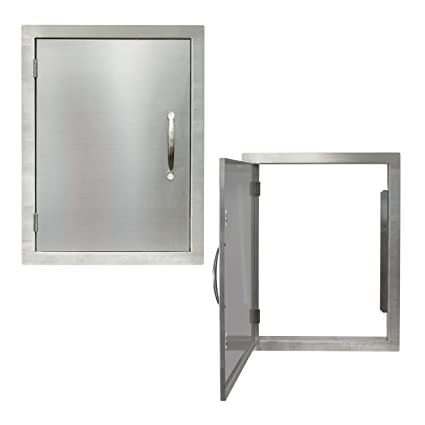 Houseables BBQ Access Door, Stainless Steel, Vertical, Single, 17 X 24 Inch
