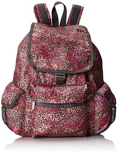 LeSportsac Voyager Backpack Handbag, Lavender Fields, One Size