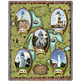 Pure Country Lighthouses of the Great Lakes II Blanket Tapestry Throw