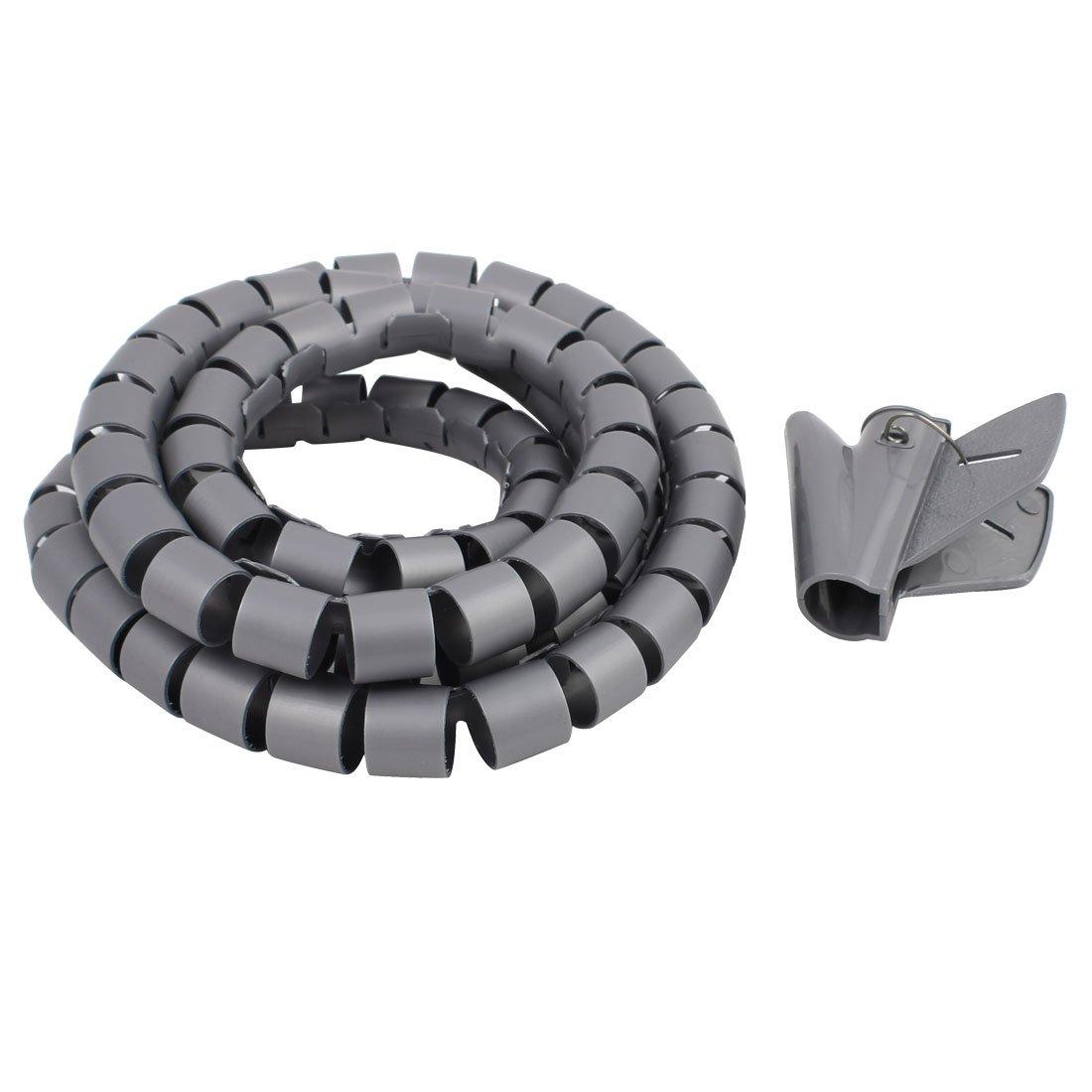 Sourcingmap/® 15mm Flexible Spirale Rohrkabel Draht Wickeln Computer Manage Schnur Wei/ß 6ft DE de