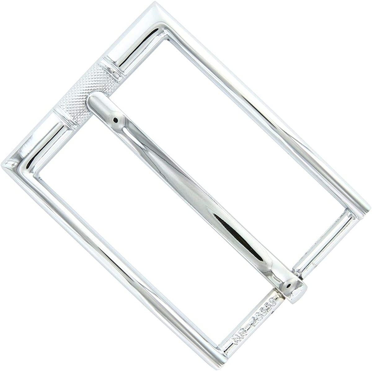 Center Checkered Engraved Polished Replacement Belt Buckle Z3559