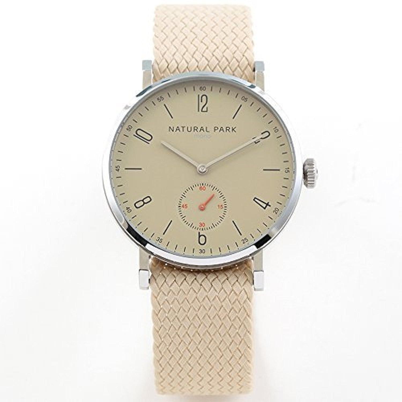 Wasserdichte Herren & Frau Kleid Uhren mit Licht braun Zifferblatt Grau Nylon Armbanduhr Band Arabisch Display