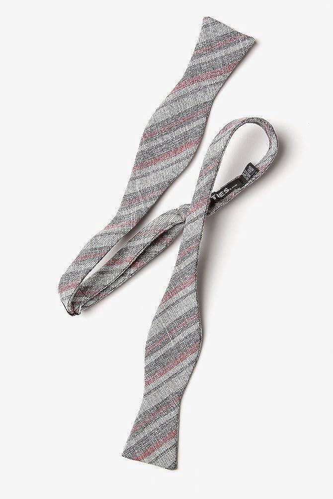Katy Charcoal Cotton Skinny Bow Tie