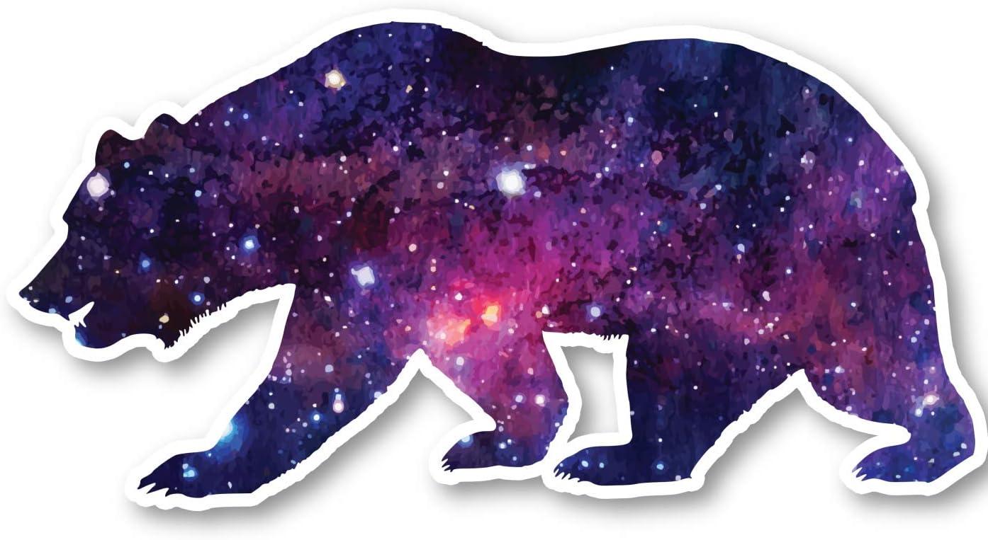 "Bear Sticker Galaxy Stickers - Laptop Stickers - 2.5"" Vinyl Decal - Laptop, Phone, Tablet Vinyl Decal Sticker S1237"