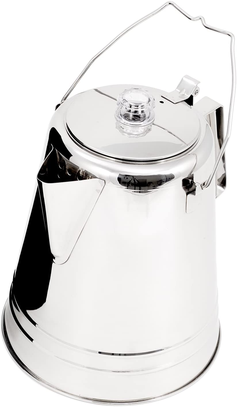 GSI Glacier Stainless Coffee Perk Cup 9 Cup