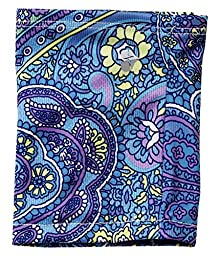 Mighty Well PICC Line Cover: Antimicrobial, Line Never Touches Skin, Size E (Medium) Arlene, Paisley Blue