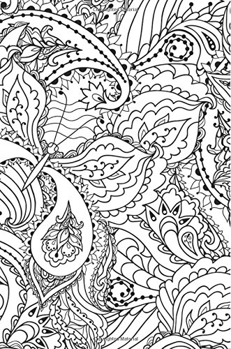 Download Doodle Journal Notebook: Coloring Paisley Doodle Notebook and Journal for Kids and Adults, Color the Outside and Inside Pages of the Book pdf