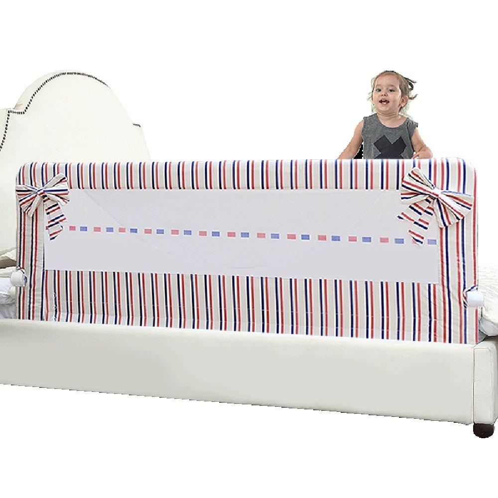 DD ベビー&マタニティ/ベビー布団寝具/ベッドガードフェンス, 子供用ベッドのフェンスキングベッド1.8-2メートルのベッドの列のベビーベッドベビーシャッター抵抗性ベッドストライプサイドフェンス -子供を守る (色 : Stripe-150cm)  Stripe-150cm B07K6PXVJH