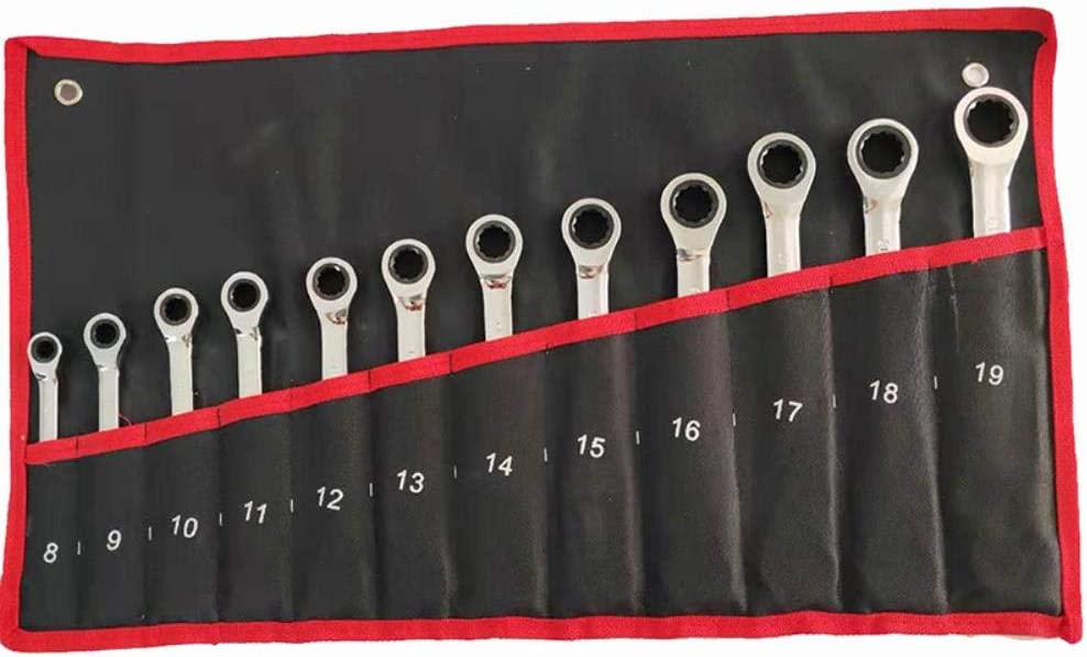 Clkdasjd Ratchet Combination Wrench Set,9 pcs set 9 Pcs Set